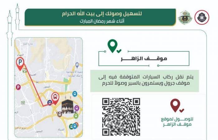 """""""البسامي"""": 4 مسارات لبلوغ المعتمرين المنطقة المركزية خلال رمضان"""