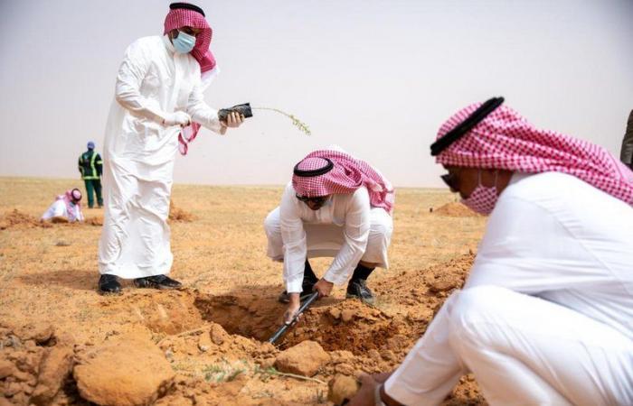 """""""محمية الملك عبدالعزيز الملكية"""" تزرع 100 ألف شتلة من مشروع التشجير"""