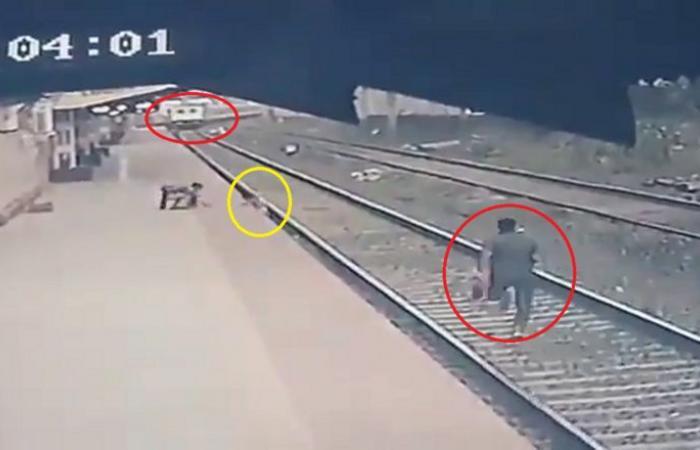 فيديو الطفل والقطار.. شاهد مفاجأة اللحظة الأخيرة