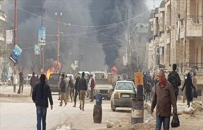 إصابة 5 أطفال في انفجار سيارة مفخخة بعفرين السورية