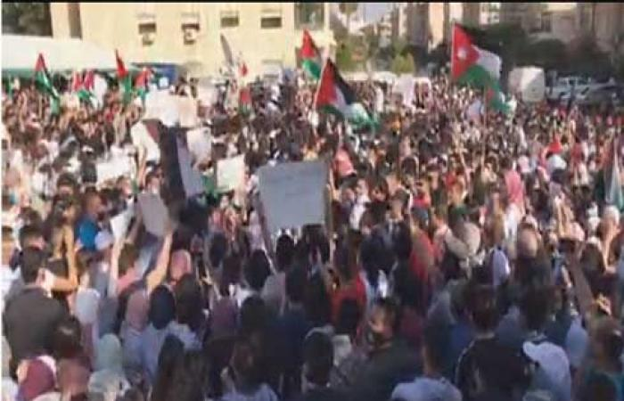 لليوم الثالث .. وقفة احتجاجية قرب السفارة الإسرائيلية بعمّان