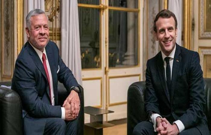 ماكرون: سأعمل مع الملك على التهدئة في الأراضي الفلسطينية