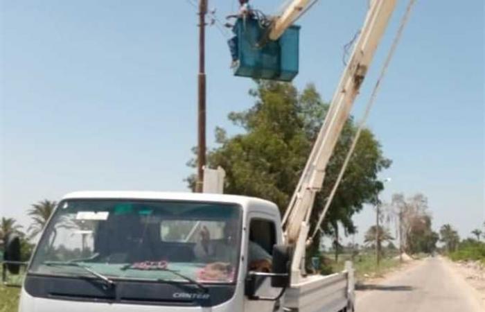 الكهرباء تراجع الإنارة العامة بشوارع مدينة بني سويف