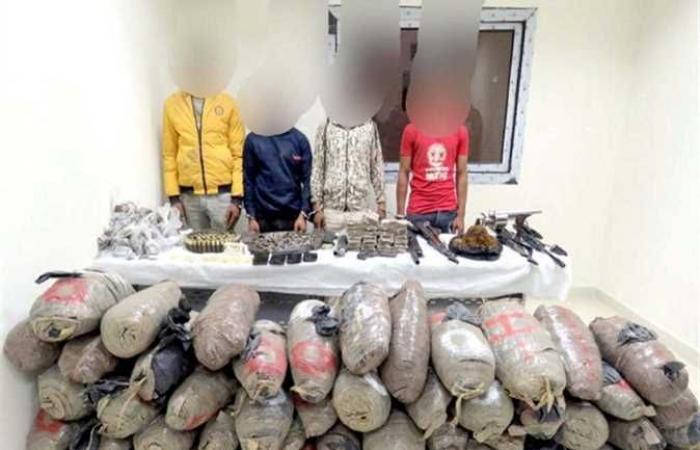 ضبط 215 طربة لمخدر الحشيش بحوزة أحد الأشخاص بالإسكندرية