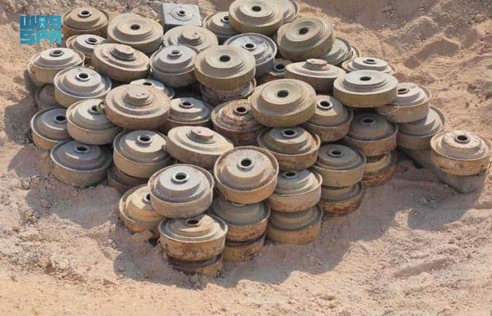 """""""مسام"""" ينتزع 1.557 لغمًا في اليمن خلال الأسبوع الثالث من يونيو"""