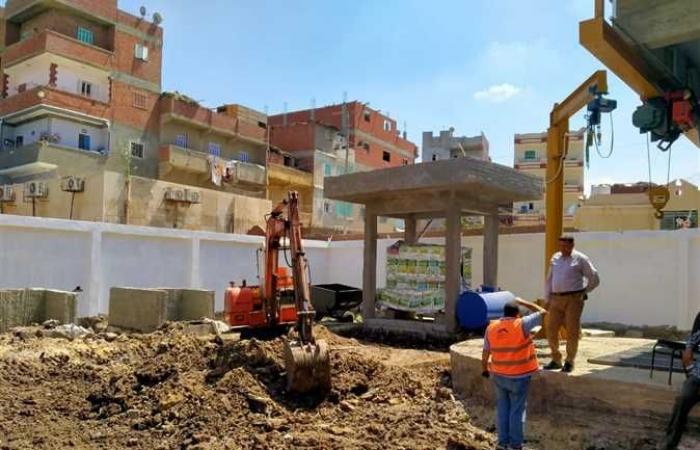 تنفيذ مشروعات صرف صحي في دسوق بكفر الشيخ
