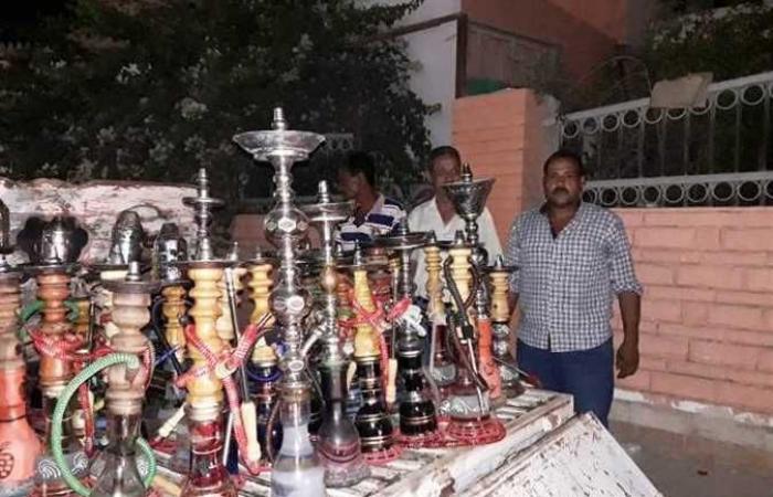 مصادرة ٤٥ شيشة ورفع الإشغالات المخالفة في حملات تفتيشية بالشرقية
