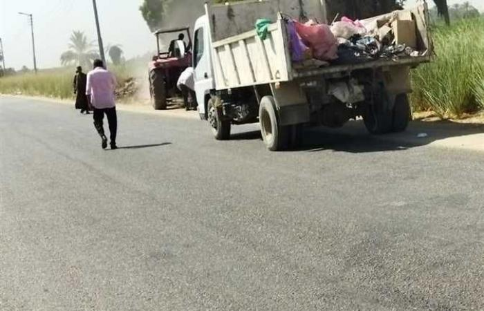 رفع 41 طن مخلفات في حملة نظافة بشوارع إسنا جنوب الأقصر