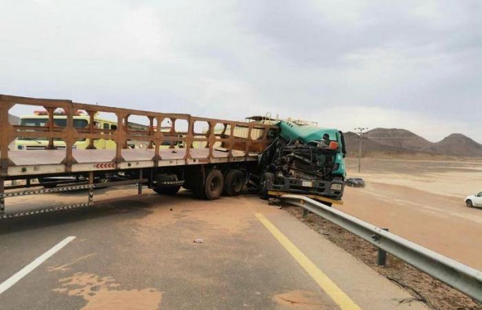 نتيجة الغبار .. حادثان جماعيان على طريق مهد الذهب السويرقية