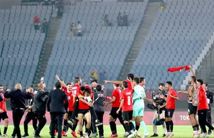 منتخب مصر يبلغ ربع نهائى الأولمبياد للمرة السادسة فى تاريخ الفراعنة الصغار
