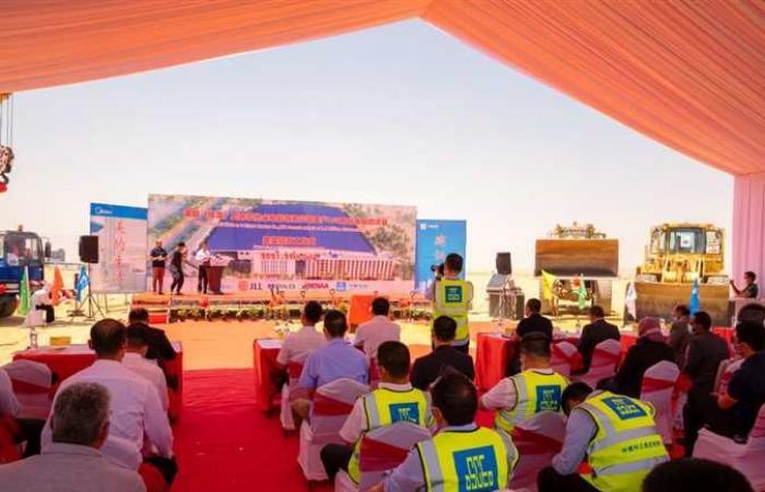وضع حجر أساس مشروع تصنيع أجهزة كهربائية بالمنطقة الصناعية الصينية بالسخنة