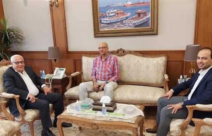محافظ بورسعيد يستقبل رئيسى «الرعاية الصحية» الحالي والسابق