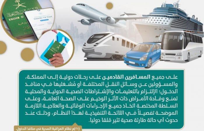 النيابة العامة: هذا ما يجب أن يفعله المسافرون القادمون للمملكة على رحلات دولية