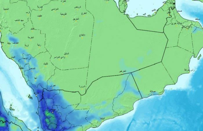 """فرص الأمطار والمواقع المتأثرة بالغبار في توقعات """"الحصيني"""" لطقس الإثنين"""