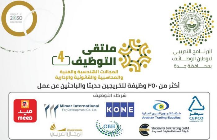 أكثر من 350 وظيفة في ملتقى التوظيف الـ4 بتنفيذ جامعة جدة