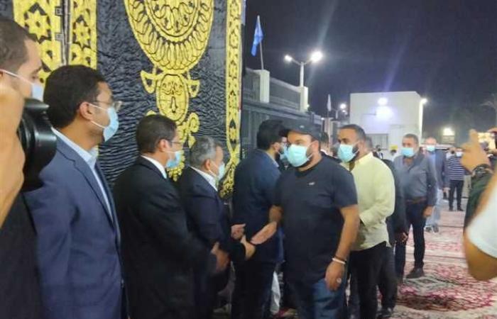 محمد عبد الرحمن وأحمد أمين ومحمد زيدان يحضرون عزاء العربي (صور)