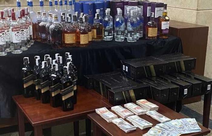 للمرة الثالثة خلال أسبوع.. ضبط 126 زجاجة خمور أجنبية غير خالصة الضرائب والرسوم