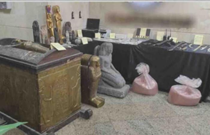 بحوزتهم 104 سبيكة ذهبية ..«الداخلية» تكشف تفاصيل سقوط عصابة الآثار الفرعونية