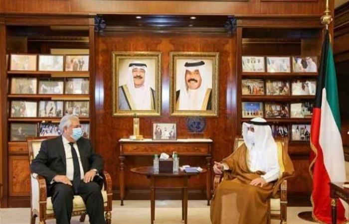 وزير خارجية الكويت يتسلم نسخة من أوراق اعتماد السفير أسامة شلتوت