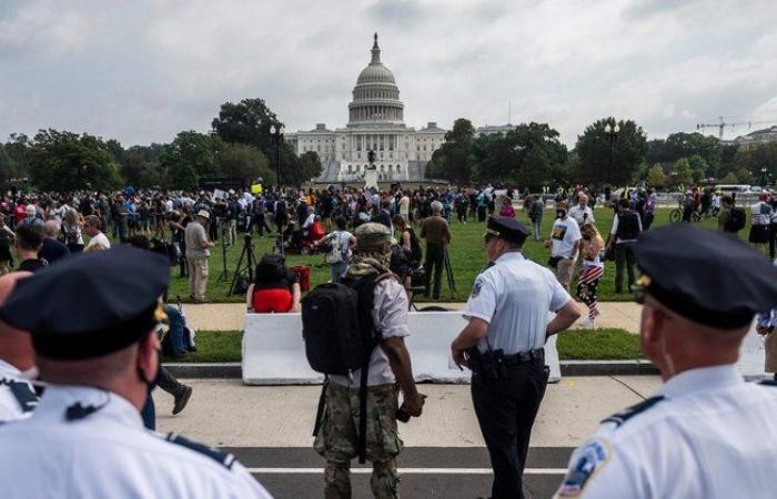 """أنصار """"ترامب"""" يتظاهرون أمام الكونجرس وسط تحذيرات من عنف محتمل"""