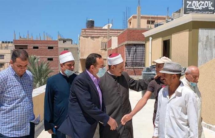 رش وتطهير المساجد في شمال سيناء استعدادًا لصلاة الجمعة