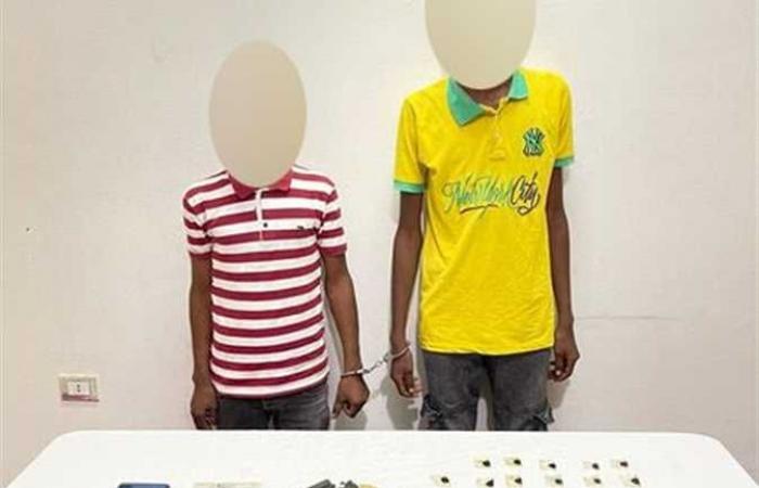 سقوط شخصين بحوزتهما أسلحة نارية ومخدرات بأسوان