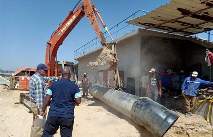 رئيس جهاز «النوبارية الجديدة» يتفقد سير العمل بتوسعات محطة معالجة الصرف الصحي