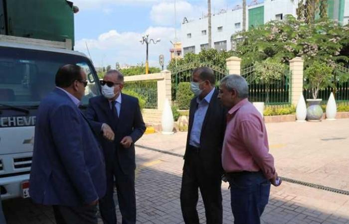 محافظ كفر الشيخ يتفقد صناديق القمامة