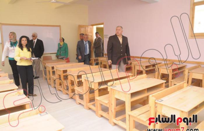 محافظ القاهرة يفتتح أعمال التطوير بمدرسة خطاب السبكى بالدرب الأحمر