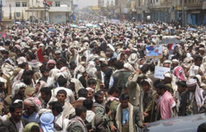 احتشاد الآلاف فى تعز اليمنية للاحتفال بذكرى تحقيق الوحدة الوطنية