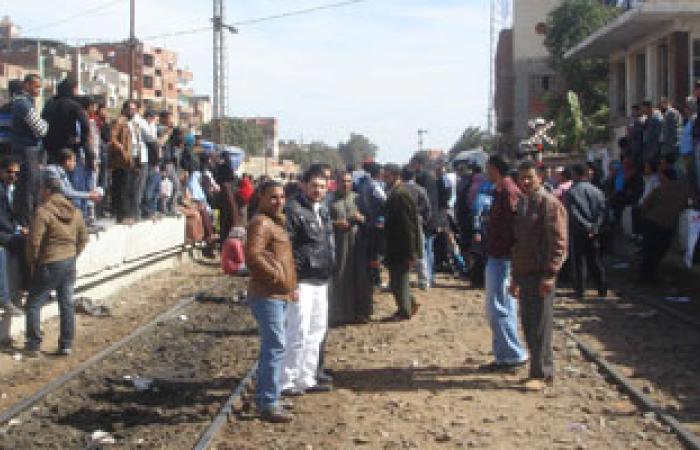 """ركاب قطار """"الإسكندرية القاهرة"""" يهتفون باسم """"مبارك"""""""