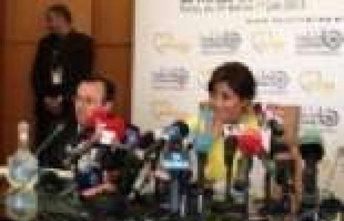 """شيرين عبد الوهاب تحضر المؤتمر الصحفي الخاص بحفلها """"بموازين"""""""