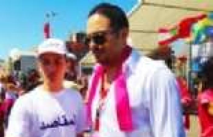 رامي عياش يحضر الماراثون العربي الأول للمرأة