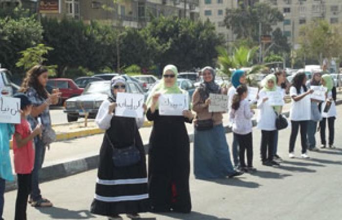 مسيرة صامتة لناشطات ضد التحرش بمصيف بلطيم
