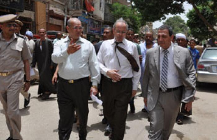 """محافظ بنى سويف يقود حملة لإزالة الإشغالات بمدينة """"ببا"""""""
