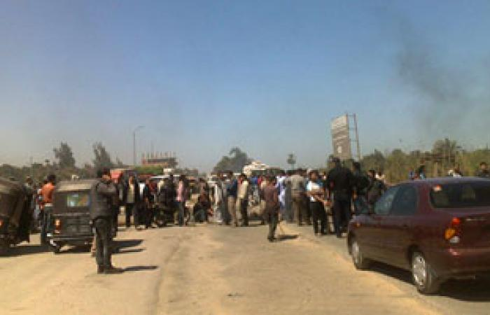 قطع الطريق بقرية أم كلثوم بالدقهلية احتجاجاً على احتراق محول كهربائى