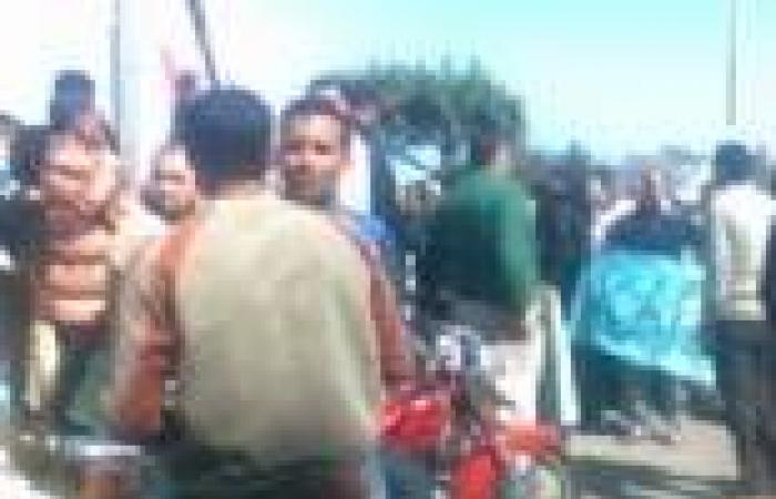 وقفة احتجاجية لأهالي قرية بكفر الشيخ بعد اختفاء طالبة جامعية