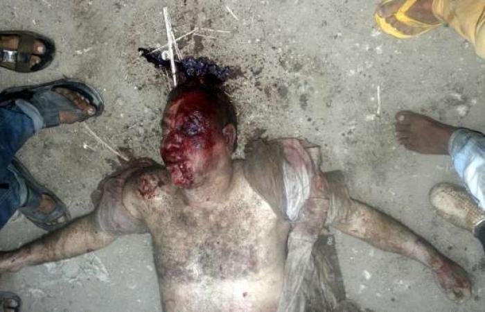 """بالصور  معاينة النيابة لموقع حادث """"أبوالنمرس"""": الشيعة الأربعة قتلوا بعد سحلهم لمدة ساعتين"""