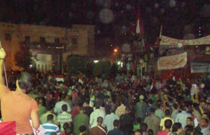 مسيرة حاشدة بمنوف تطالب بإسقاط النظام