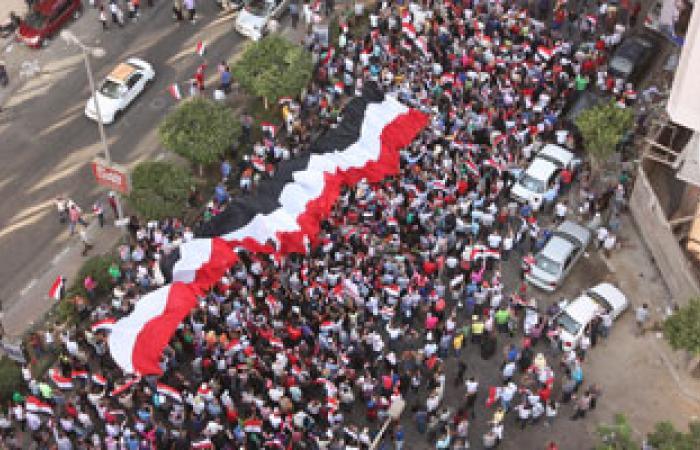 مسيرة لأهالى المطرية متجهة لقصر الاتحادية