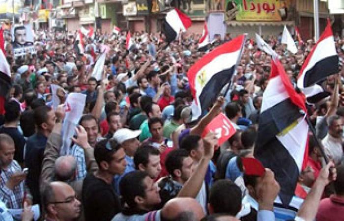 مظاهرة حاشدة أمام مبنى مجلس مدينة الزقازيق بمحافظة الشرقية