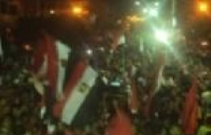 مسيرات لمتظاهري القليوبية احتفالا ببيان الجيش