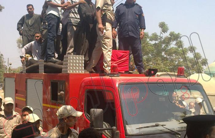 بالصور.. المنوفية تودع شهيد الشرطة فى سيناء بجنازة مهيبة
