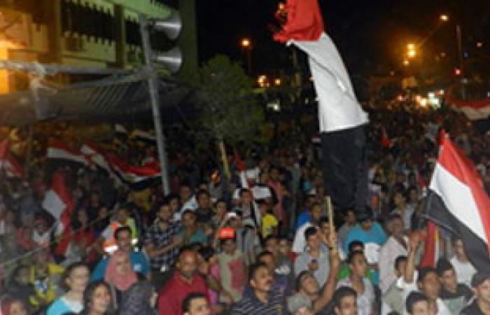 مؤيدو مرسى يتجمهرون على طريق مصر إسكندرية الصحراوى