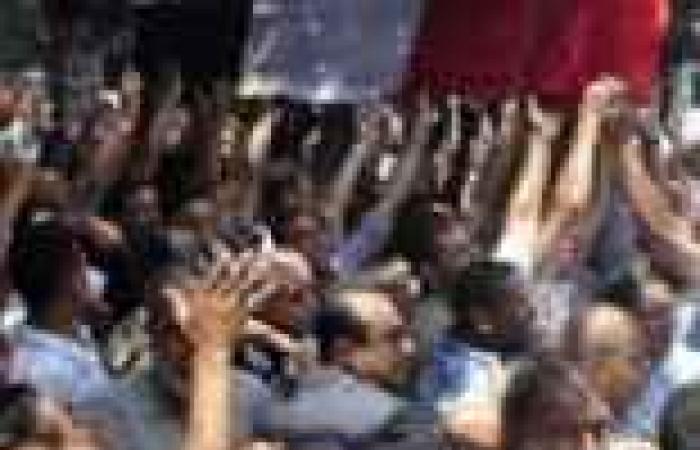الإسكندرية تودع الشهيد محمد المسيرى بالزغاريد