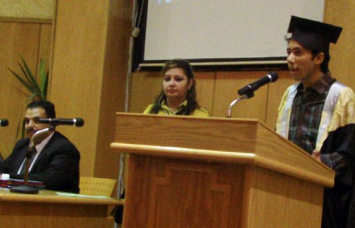 """بالصور.. """"حقوق الإنسان والتنمية"""" يكرم أوائل الثانوية بالإسماعيلية"""