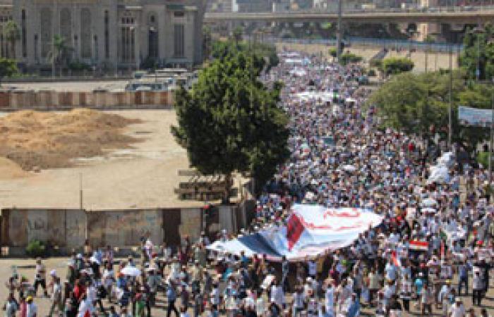 مظاهرة لأنصار الرئيس المعزول بميدان الساعة بقنا