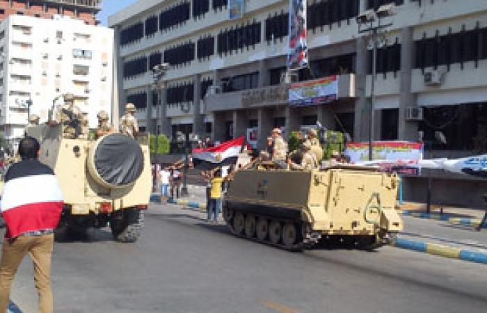 انتشار وحدات مدرعة لتأمين ميادين الإسماعيلية فى جمعة تفويض الجيش