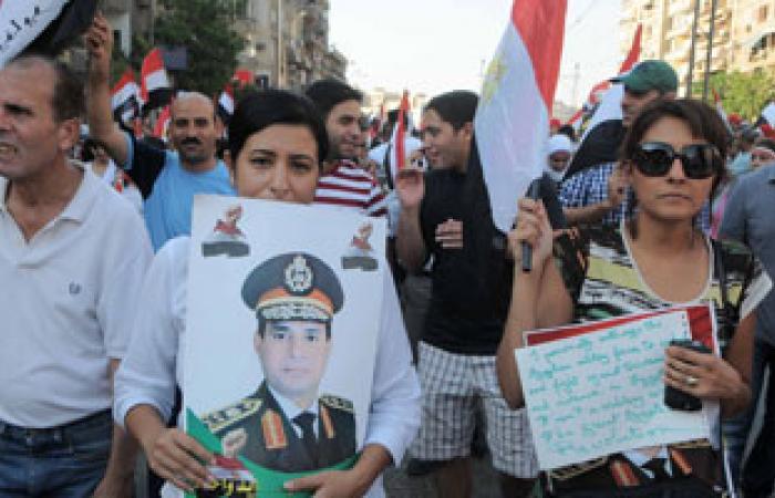 الآلاف يحملون صور السيسى بالشرقية ويهتفون:كلنا معاك يا بطل