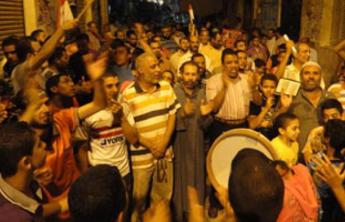 وقفة احتجاجية لأنصار الإخوان أمام مسجد الباشا بالمحلة